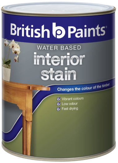 British Paints Water Based Interior Stain