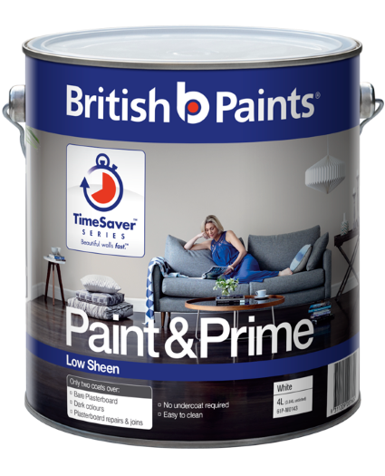 British Paints Paint And Prime Low Sheen