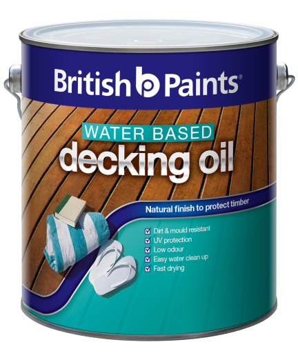 British Paints Water Based Decking Oil British Paints
