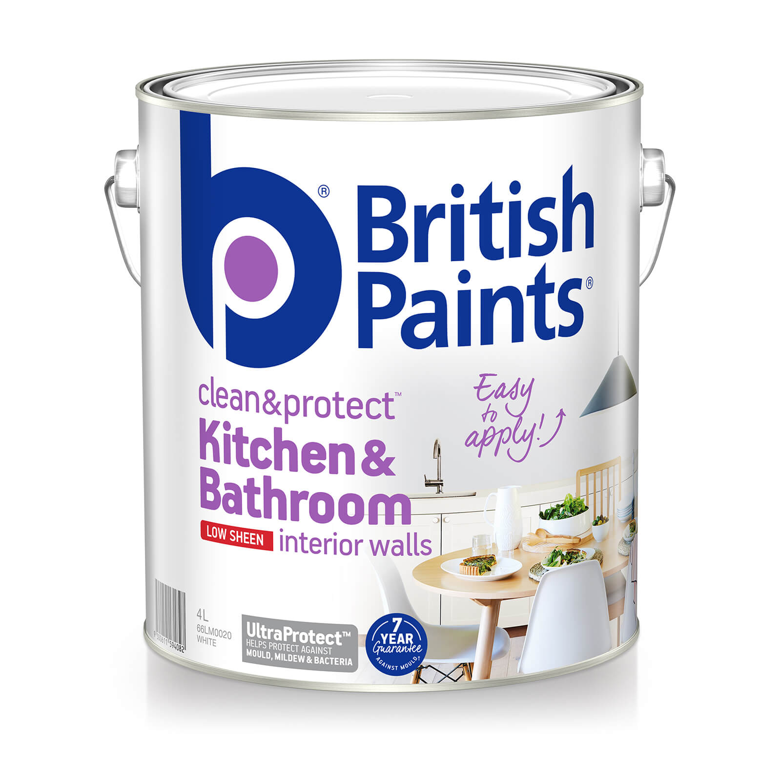 British Paints Clean An Protect Kitchen An Bathroom Low Sheen